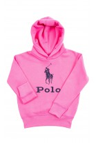 Różowa bluza dresowa z kapturem z napisem POLO, Polo Ralph Lauren