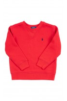 Czerwona bluza dresowa wkładana przez głowę, Polo Ralph Lauren