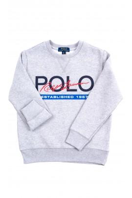 Szara bluza dresowa wkładana przez głowę, Polo Ralph Lauren