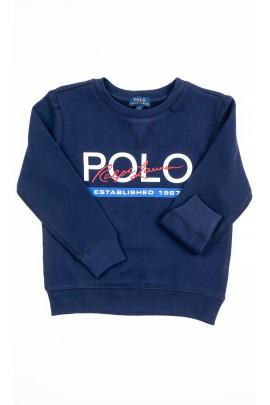 Granatowa bluza dresowa wkładana przez głowę, Polo Ralph Lauren