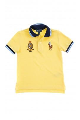 Żółta koszulka polo dla chłopca, Polo Ralph Lauren