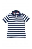 Koszulka polo w biało-granatowe poziome pasy dla chłopca, Polo Ralph Lauren