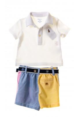 Komplet niemowlęcy dla chłopca koszulka polo i krótkie spodenki, Ralph Lauren