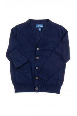 Granatowy rozpinany sweter chłopięcy, Polo Ralph Lauren