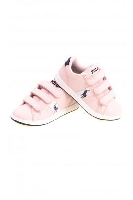 Różowe sportowe buty dziewczęce sneakersy, Polo Ralph Lauren