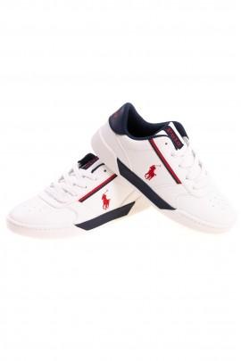 Białe eleganckie buty sportowe chłopięce, Polo Ralph Lauren