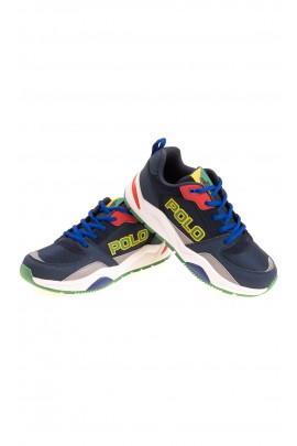 Granatowe buty sportowe z kolorowymi dodatkami, Polo Ralph Lauren