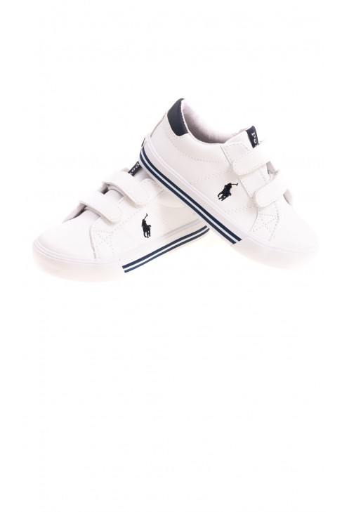 Białe buty sportowe na trzy rzepy, Polo Ralph Lauren