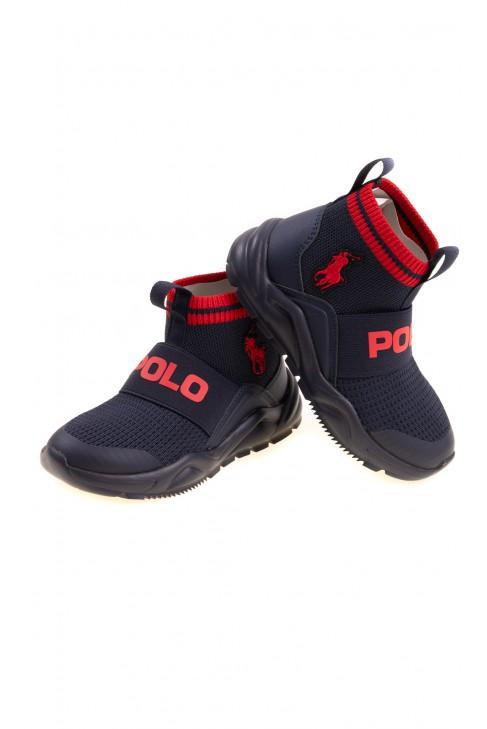 Granatowe buty sportowe z cholewką, Polo Ralph Lauren