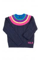 Granatowy ciepły sweter dziewczęcy, Polo Ralph Lauren