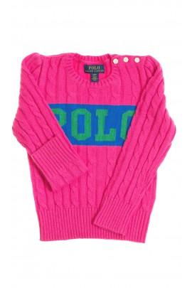 Różowy sweter dziewczęcy, Polo Ralph Lauren