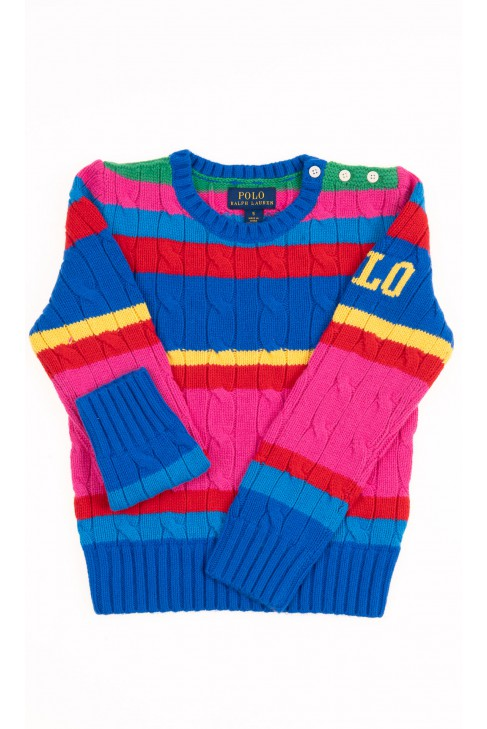 Kolorowy sweter wkładany przez głowę, Polo Ralph Lauren