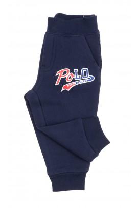 Granatowe spodnie dresowe niemowlęce, Ralph Lauren