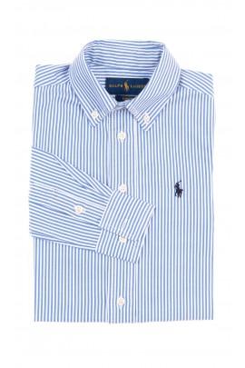 Elegancka koszula chłopięca w biało-niebieskie paski, Polo Ralph Lauren