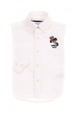 Biała koszula niemowlęca z kultowym misiem, Ralph Lauren