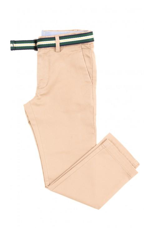 Eleganckie spodnie chłopięce w kolorze koniakowym, Polo Ralph Lauren