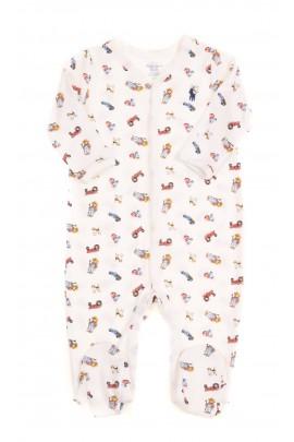 Śpioszek niemowlęcy w kolorowe obrazki, Ralph Lauren
