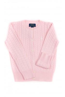 Różowy kardigan dziewczęcy, Polo Ralph Lauren