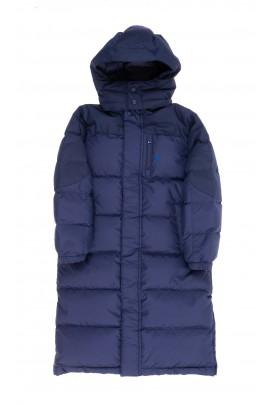 Granatowy puchowy płaszcz chłopięcy, Polo Ralph Lauren