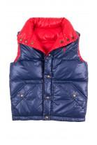 Granatowo - czerwony puchowy bezrękawnik chłopięcy, Polo Ralph Lauren