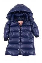 Granatowy puchowy płaszcz dziewczęcy, Polo Ralph Lauren