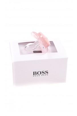 Różowy smoczek uspokajający, Hugo Boss