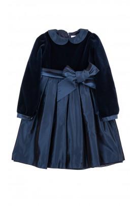 Granatowa elegancka sukienka, Mariella Ferrari