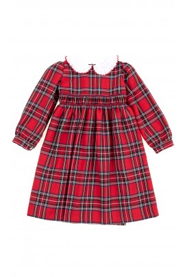 Elegancka sukienka czerwona w kratę, Mariella Ferrari