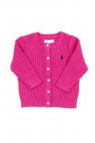 Różowy rozpinany sweterek niemowlęcy, Ralph Lauren