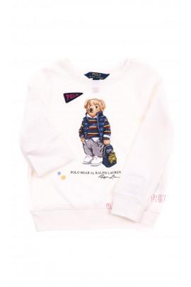 Bluza écru z kultowym misiem, Polo Ralph Lauren