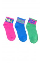 Kolorowe skarpetki dziewczęce, Polo Ralph Lauren