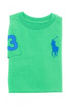 Zielony t-shirt chłopięcy na krótki rękaw, Polo Ralph Lauren