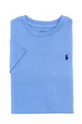 Niebieski t-shirt chłopięcy na krótki rękaw, Polo Ralph Lauren