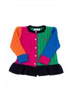 Kolorowy rozpinany sweter dziewczęcy, Ralph Lauren
