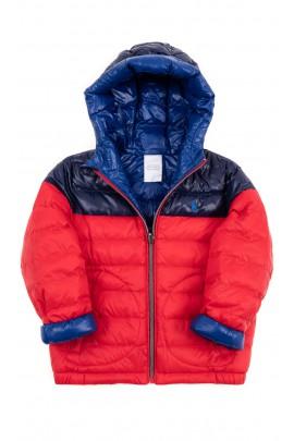 Dwustronna szafirowo - czerwona kurtka ocieplana, Polo Ralph Lauren