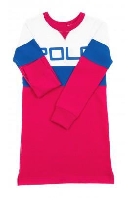 Sportowa sukienka z dzianiny dresowej, Polo Ralph Lauren