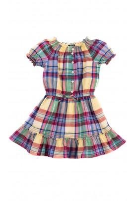 Letnia sukienka w kolorową kratkę, Polo Ralph Lauren