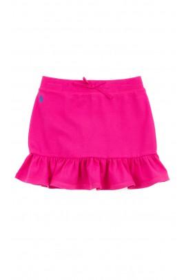 Różowa spódnica na dole z falbanką, Polo Ralph Lauren