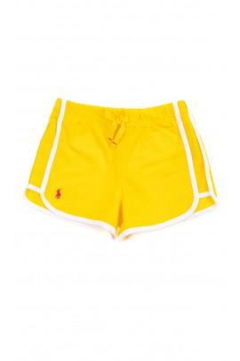 Żółte krótkie spodenki sportowe, Polo Ralph Lauren