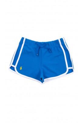 Szafirowe krótkie spodenki sportowe, Polo Ralph Lauren