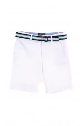 Białe krótkie spodenki chłopięce, Polo Ralph Lauren
