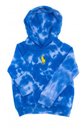 Niebieska bluza dziewczęca z kapturem, Polo Ralph Lauren