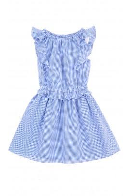Letnia sukienka w drobną niebieską kratkę, Polo Ralph Lauren