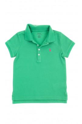 Zielona koszulka polo dla dziewczynki, Polo Ralph Lauren