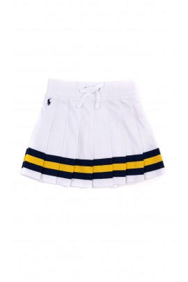 Biała spódniczka plisowana, Polo Ralph Lauren