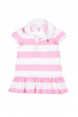 Pastelowa sukienka niemowlęca w paski, Ralph Lauren