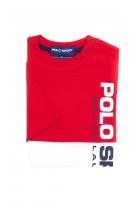 T-shirt czerwono-biały POLO SPORT chłopięcy, Polo Ralph Lauren