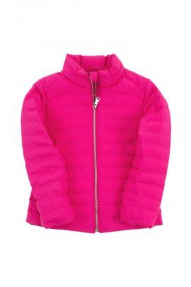 Przejściowa kurtka dziewczęca w kolorze fuksji, Polo Ralph Lauren