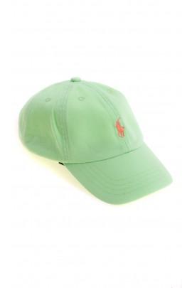 Seledynowa dziecięca czapka z daszkiem, Polo Ralph Lauren