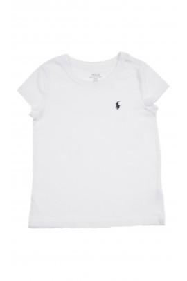 T-shirt dziewczęcy biały, Polo Ralph Lauren
